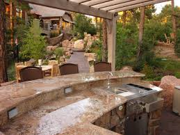 outdoor kitchen island designs outdoor kitchen island options and ideas hgtv