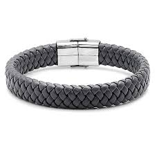 leather stainless steel bracelet images Men 39 s leather and stainless steel bracelets jpg