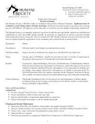 Vet Assistant Resume Kennel Assistant Resume Resume For Your Job Application