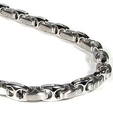 stainless chain link necklace images Nitrogen stainless steel men 39 s link necklace chain jpg
