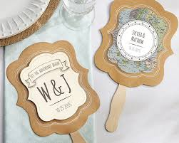 personalized wedding fans personalized kraft fan travel and adventure set of 12 my