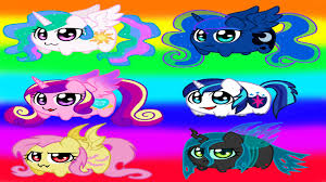 my little pony coloring book chibi ponies coloring page all