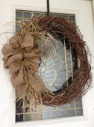 rustic burlap wreath want to make one for our front door with