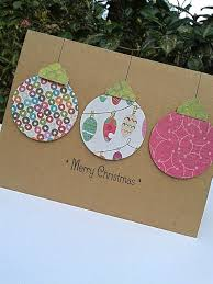 ornament card paper handmade christmas cards by sharingapassion