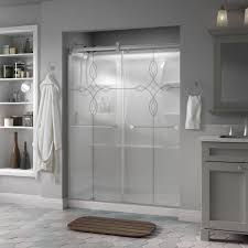 Frameless Glass Shower Door Kits by Delta Mandara 60 In X 71 In Semi Frameless Contemporary Sliding