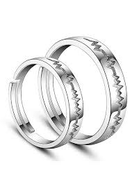 platinum sterling rings images Buy discount 925 sterling silver couple rings heartbeat platinum jpg