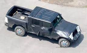 jeep concept truck gladiator pics show test of wrangler pickup the blade