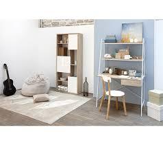 bureau avec etagere bureau avec étagères shelvi imitation chêne blanc bureaux but