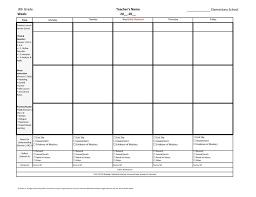 common core lesson plans printable plan template free kindergarten
