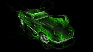 Chevrolet Corvette Stingray Retro Muscle Fire Car 2014 El Tony