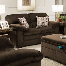 Simmons Upholstery Furniture Simmons Upholstery 3684 Stationary Loveseat With Pillow Top Arms