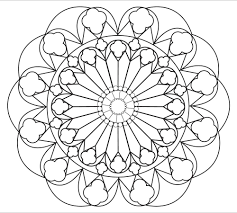 relaxing mandala coloring page simple and large spaces for