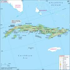 Where Is Mexico On The Map by Map Of Cuba Cuba Map