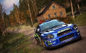 subaru rally wallpaper dirt rally flying finland update codemasters blog