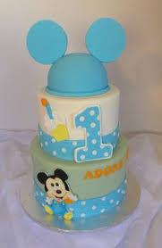 baby mickey 1st birthday cake edible creations pinterest