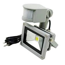 smart outdoor flood light zhma 10w motion sensor flood light us 3 plug outdoor led flood
