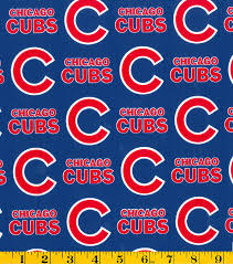 chicago cubs tossed mlb fleece fabric joann