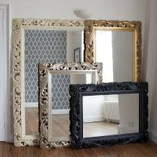 carved wood gilt silver mirror frame mirrors carved wood and