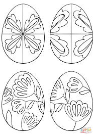 pysanky eggs coloring page free printable coloring pages
