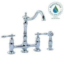 bridge kitchen faucet with side spray glacier bay lyndhurst 2 handle bridge kitchen faucet side sprayer