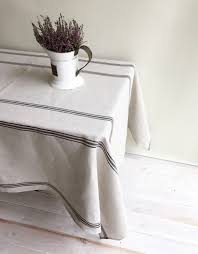 farmhouse style table cloth chambray blue striped linen tablecloth for the home pinterest