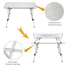 Adjustable Height Folding Table Legs Rokoo Folding Camping Table Portable Height Adjustable Aluminum