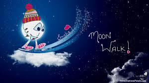 moon walk cartoon punch