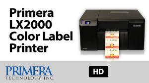primera lx2000 color label printer youtube