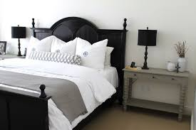 Black And White Bed Sheets Bedroom Gothic Black Wooden Bed Frame In White Bed Sheets Also