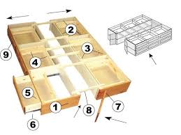 nice plans for bed with drawers underneath and full size bed frame