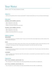 Resume Template Basic Preferred Resume Format Resume For Your Job Application