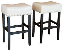 chantal leather stools set of 2 transitional bar stools and