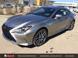 lexus rc 350 f sport for sale new atomic silver on red 2015 lexus rc 350 awd f sport series 2