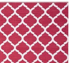 Pink Indoor Outdoor Rug Becca Tile Reversible Indoor Outdoor Rug Pink Pottery Barn