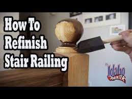 How To Paint Banister How To Refinish Wood Hand Railing Hacks Staining Stair Spindles