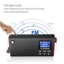 avantree portable bluetooth speaker with fm radio and sd card