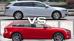 vauxhall insignia wagon 2018 opel insignia sports tourer vs 2017 mazda 6 wagon youtube