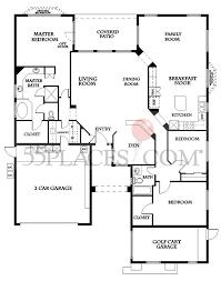 3 Bed 2 Bath Floor Plans by Sonoma Floorplan 2368 Sq Ft Sun Lakes 55places Com