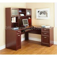 Computer Desk With Hutch Cherry Realspace Magellan L Shaped Desk Cherry Home Furniture Decoration