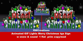 second life marketplace animated gif lights merry christmas tga