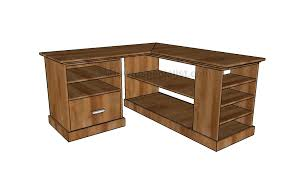 corner desk plans howtospecialist how to build step by step