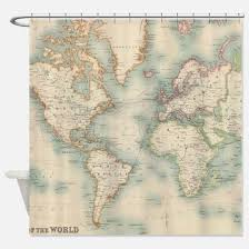 Shower Curtain Map World Map Shower Curtains World Map Fabric Shower Curtain Liner