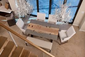 concrete and wood dining table aol image search result for http www prettylittlegreenthings com