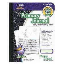 lined writing paper with picture space amazon com mead mea09956 primary journal k 2nd grade office products