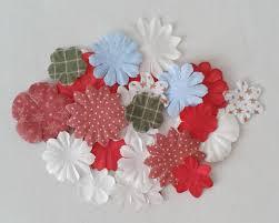 dear santa 30 paper blossoms flowers card crafts scrapbooking