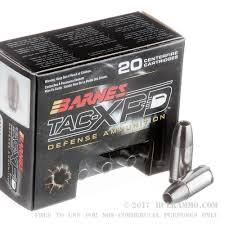 Barnes Tac Xpd 45 Acp 20 Rounds Of Bulk 9mm Ammo By Barnes 115gr Hp