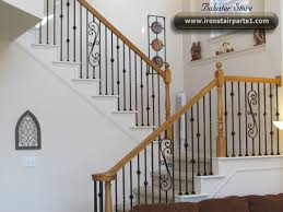 Banister Decor Wrought Iron Stair Spindles Decor Stylish Wrought Iron Stair