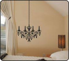 Chandelier Wall Decal Contemporary Silhouettes Décor Decals Stickers U0026 Vinyl Art Ebay