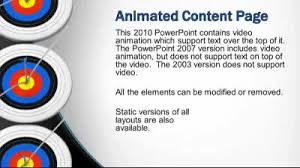 element layout template is not supported target goal a powerpoint template from presentermedia com