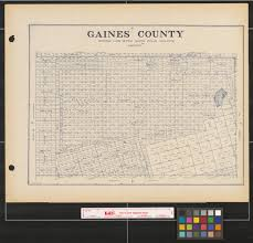 Map Of New Mexico Counties by Gaines County The Portal To Texas History